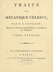 Cover of: Traité de mécanique céleste