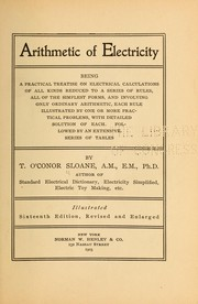 Cover of: Arithmetic of electricity