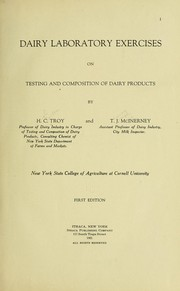Cover of: Dairy laboratory exercises on testing and composition of dairy products