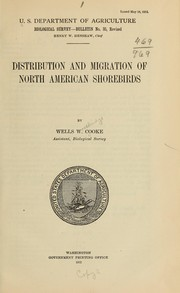 Cover of: Distribution and migration of North American shorebirds