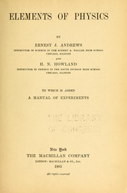 Cover of: Elements of physics | Ernest John Andrews