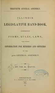 Cover of: Illinois legislative hand-book