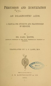Cover of: Percussion and auscultation as diagnostic aids | Karl Hoppe