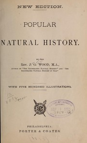 Cover of: The popular natural history