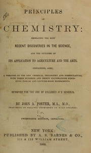 Cover of: Principles of chemistry | Porter, John A.