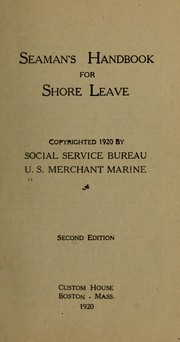 Cover of: Seaman's handbook for shore leave ...