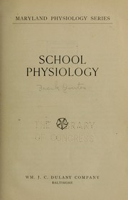 Cover of: School physiology