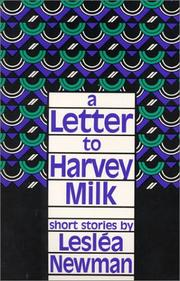 Cover of: A letter to Harvey Milk