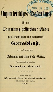 Cover of: Unparteiisches Liederbuch