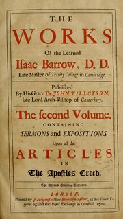 Cover of: The works of the learned Isaac Barrow, D.D.