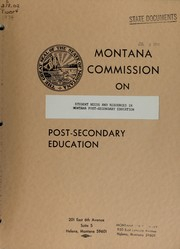 Cover of: Student needs and resources in Montana post-secondary education