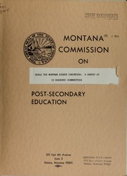 Cover of: Goals for Montana higher education