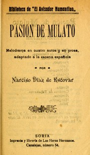 Cover of: Pasión de mulato