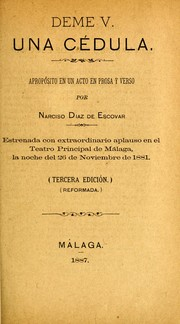 Cover of: Déme V. una cédula