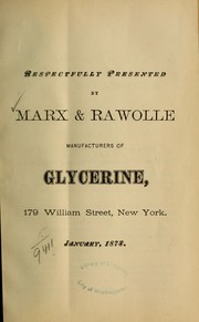Cover of: Glycerine and its uses