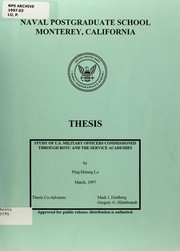 Cover of: Study of U.S. military officers commissioned through ROTC and the Service Academies