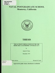 Cover of: Fiscal policy implications of the 1988 Medicare Catastrophic Coverage Act