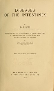 Cover of: Diseases of the intestines ...