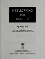 Cover of: Networking for dummies
