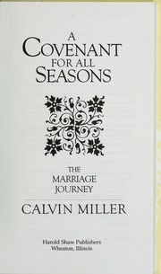Cover of: A Covenant for All Seasons