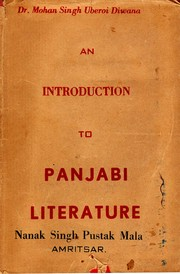 Cover of: An Introduction to Panjabi Literature