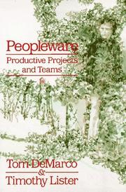 Cover of: Peopleware | Tom DeMarco