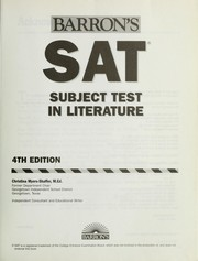 Cover of: SAT subject test in literature