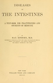 Cover of: Diseases of the intestines | Max Einhorn