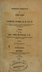 Cover of: A domestic narrative of the life of Samuel Bard