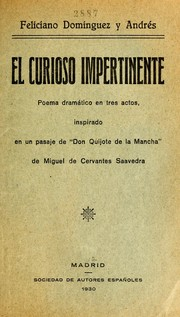 Cover of: El curioso impertinente