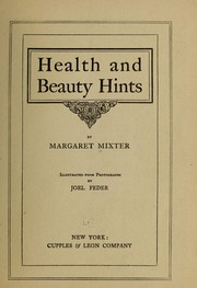 Cover of: Health and beauty hints ...