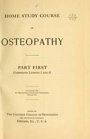 Cover of: Home studies course in osteopathy ...
