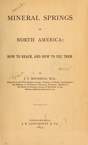 Cover of: Mineral springs of North America