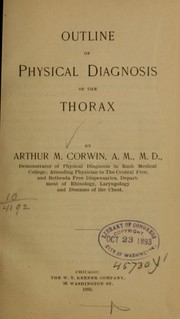 Cover of: Outline of physical diagnosis of the thorax ...