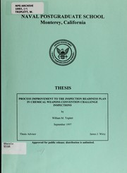 Cover of: Process improvement to the inspection readiness plan in chemical weapons convention challenge inspections