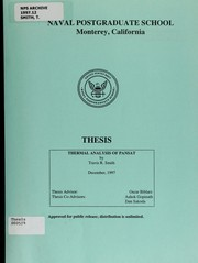 Cover of: Thermal analysis of PANSAT