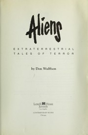 Cover of: Aliens ; extraterresterial tales of terror