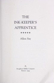 Cover of: The ink-keeper's apprentice