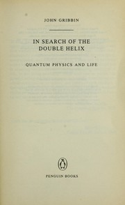 Cover of: In search of the double helix