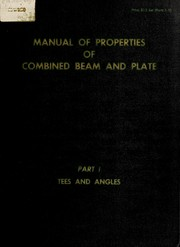 Cover of: Manual of properties of combined beam and plate. | Society of Naval Architects and Marine Engineers (New York, N.Y.)