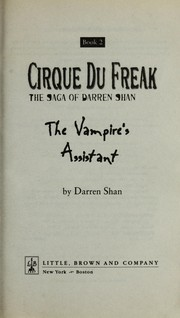 Cover of: The Vampire's Assistant: And Other Tales from the Cirque du Freak