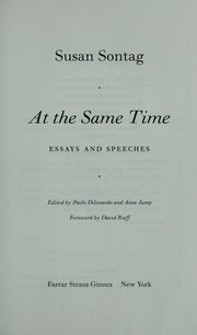 Cover of: At the same time by Susan Sontag