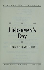 Cover of: Lieberman's day | Stuart M. Kaminsky