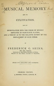 Cover of: Musical memory and its cultivation