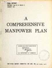 Cover of: A comprehensive manpower plan