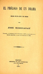 Cover of: El prólogo de un drama
