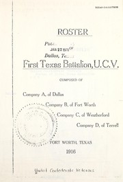 Cover of: Roster First Texas Battalion, U.C.V.