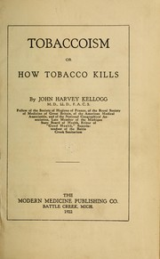 Cover of: Tobaccoism
