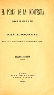 Cover of: El poder de la impotencia