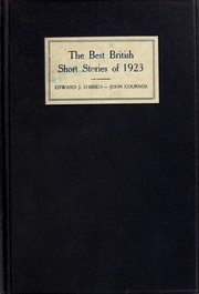 Cover of: The Best British short stories of 1923